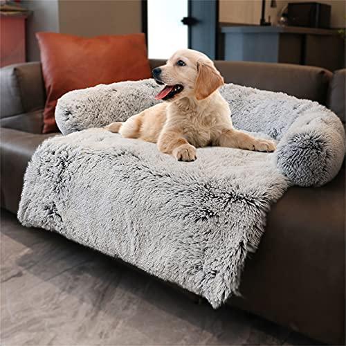 Hundebett Flauschige Hundedecke, Hundebett Couch Für Sofaschutz, Kofferraumschutz Hundedecke, Super Softe Plüsch Zwinger, Hundedecke Waschbar Decke Warmes Katzenbett Sofa Matte, L Grey