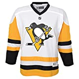 Outerstuff Pittsburgh Penguins Blank White Yellow Away Youth Replica Jersey (Large/X-Large 14-20)