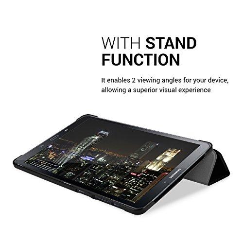kwmobile Hülle kompatibel mit Samsung Galaxy Tab A 10.1 (S-Pen) (2016) - Smart Cover Tablet Case Schutzhülle - Stand - in Schwarz