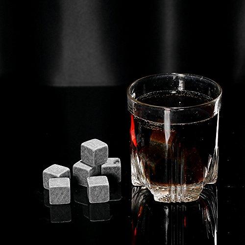 Anself 9er Set Whiskey-Steine aus natürlichem Speckstein - 6