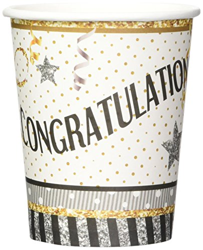 Forum Novelties X79903 Congratulations 266 ml Tasses, Multicolore