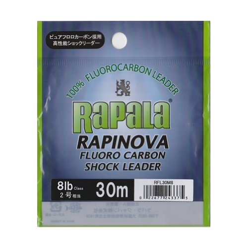ラパラ ショックリーダー ラピノヴァ フロロカーボン 30m .0号 8lb クリア RFL30M8