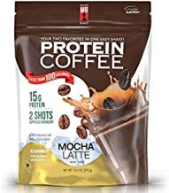 High Protein Coffee, Maine Roast Mocha Latte Iced Coffee, 15g of High Quality Protein, 2g Carbs, Zero Sugar, 2 Shots of Espresso, Keto Friendly, All Natural (15 Servings, Mocha Latte)