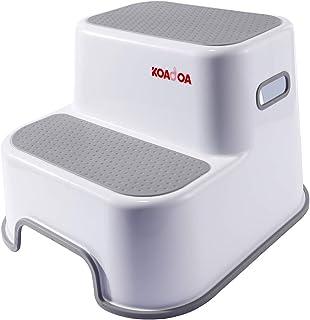 KAIDA 踏み台 子ども 2段 ステップ 幼児大人兼用 スツール ステップ台 ベランダ トイレ お手洗い 滑り止め (グレー)
