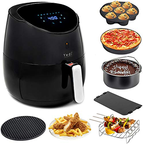Yedi Total Package Air Fryer XL, 5.8 Quart, Deluxe Accessory...