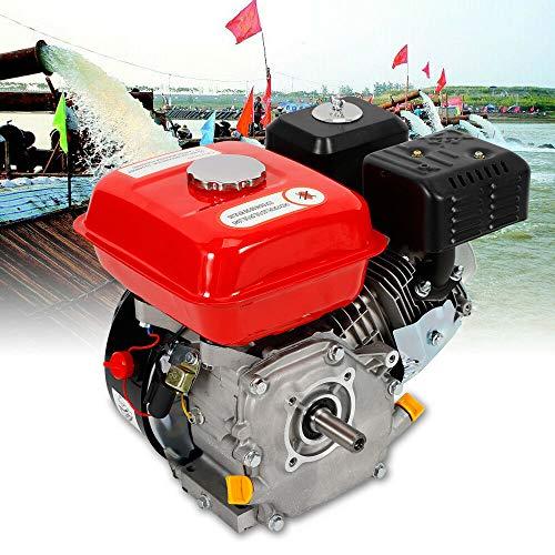 Oukaning - Motor de gasolina de 4 tiempos, retroceso / arranque eléctrico, motor industrial de 7,5 CV