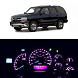 WLJH Super Bright Pink 12V Dash Led Light Kits Instrument Panel Cluster Gauge Illumination Bulbs for 2000-2002 Chevy Tahoe,Pack of 11