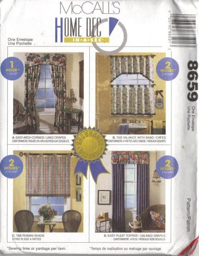 McCall's 8659 - Home Dec in-a-Sec - Patterns for 4 Curtains