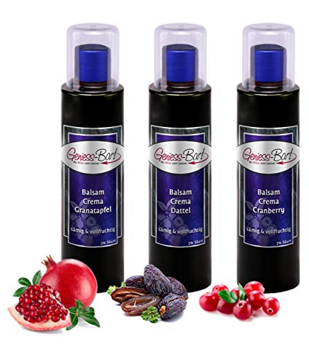 Crema Trio Dattel / Cranberry / Granatapfel 3 x 0,26 L 3% Säure dickflüssig & konzentriert Balsam Essig Creme Balsamico Fruchtbalsamico