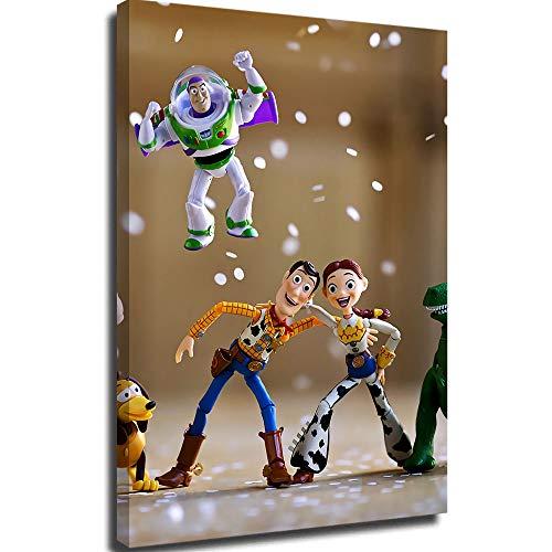 Leinwandbilder für Wohnzimmer, Wandbild, Toy Story The Toys are watching Hu Di and Tracey Poster, Lounge, Badezimmer, Küche, Büro, Schlafzimmer, Dekoration, 40,6 x 61 cm