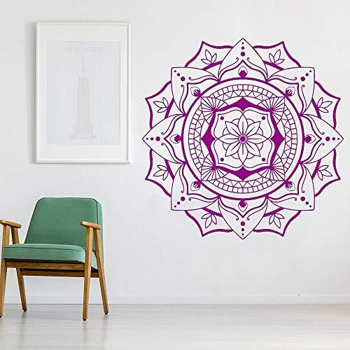 Mandala vinyl muurtattoo woonkamer achtergrond raam wanddecoratie OM symbool muursticker lotus woondecoratie slaapkamer yoga