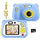 Fotocamera Per Bambini Pancellent, Videocamera Digitale HD 1080P Con Scheda TF 32G, Fotocamera Giocattolo Ricaricabile Con Messa a Fuoco Automatica Flash Con Fotocamera Per Bambini