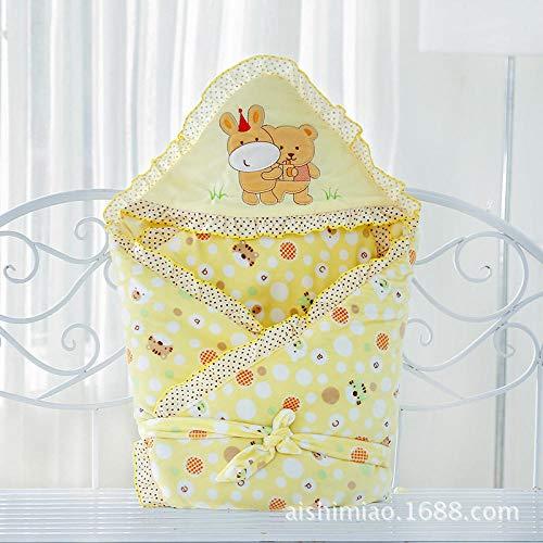 Neutral Swaddle Blanket Baby Sleeping Bag 6-18 Months Thickening, Quilt, Quilt, Autumn And Winter Cartoon, Newborn, Embroidered@Yellow_90*90Cm Child Comfort Quilt
