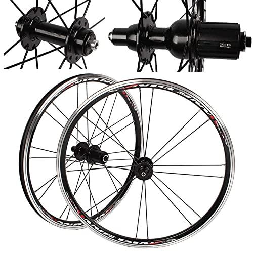 VTDOUQ Juego de Ruedas de Bicicleta BMX 406451 de 20 Pulgadas, Rueda de Bicicleta de liberación rápida con Freno en V para Cassette de Velocidad de 7/8/9/10, neumáticos 1.0-2.1