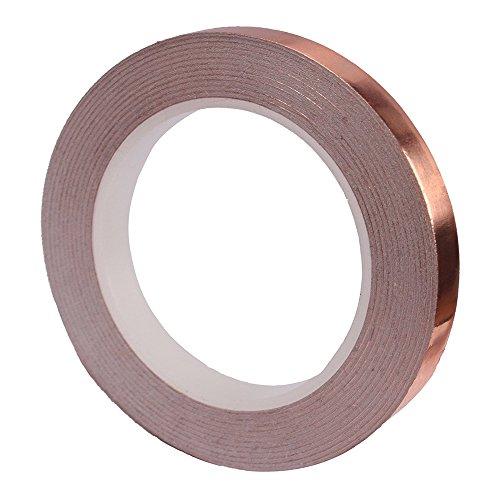 25m Abschirmband Kupferfolie,Selbstklebend Klebeband Kupferband Copper Foil Tape für Anti-Wurm Schutz der Elektronik und des Gartens (15mm) (8MM*25M)