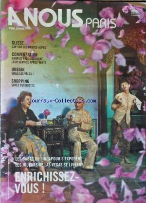 A NOUS PARIS [No 496] du 25/10/2010 - GLISSE / CAP SUR LES HAUTES-ALPES - OMAR ET FRED ASSURENT LEUR SERVICE APRES-VENTE - VOILA LES VELOS - SHOPPING / SOYEZ FUTURISTES - LES BABAS DE SINGAPOUR S'EXPOSENT - LES JOUEURS DE LAS VEGAS SE LIVRENT