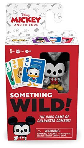 Oferta de Funko 49355 Board Games 49355 Signature Something Wild Card Game-Mickey and Friends, Multicolour