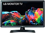 LG 24TL510V-PZ - Monitor TV de 61 cm (24') con pantalla LED HD (1366 x 768 píxeles, 16:9, DVB-T2/C/S2, 250 cd/m², 5ms, 5M:1, 10W, 1xHDMI 1.3, 1xUSB 2.0) Color Negro