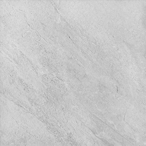 Terrassenplatte Pollux Grau Balkonfliesen Bodenplatte Feinsteinzeug Gartenwelt 60x60cm