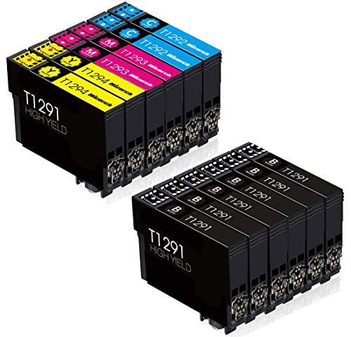 Befon Cartuchos de tinta XL para cartuchos de tinta Epson 29XL compatibles con impresoras Epson Expression Home XP-445 XP-345 (6 negros, 2 cian, 2 magenta, 2 amarillos)