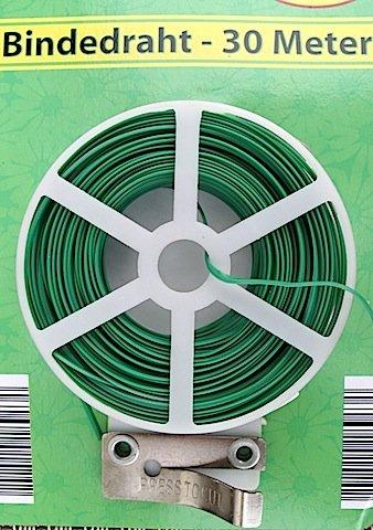 Blumendraht Bindedraht 30m Abtrenner grün na-und