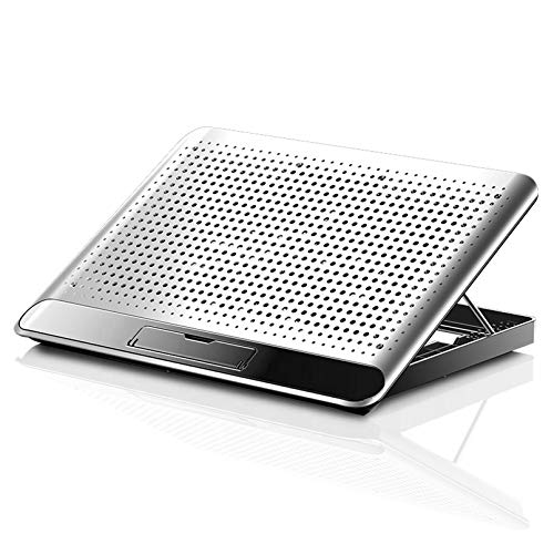 Cutfouwe Portable Gaming PC Laptop Cooler Laptop Cooling Pad Adjustable Support Notebook Stand with Fan for 12-17 Inch Laptop,Silver