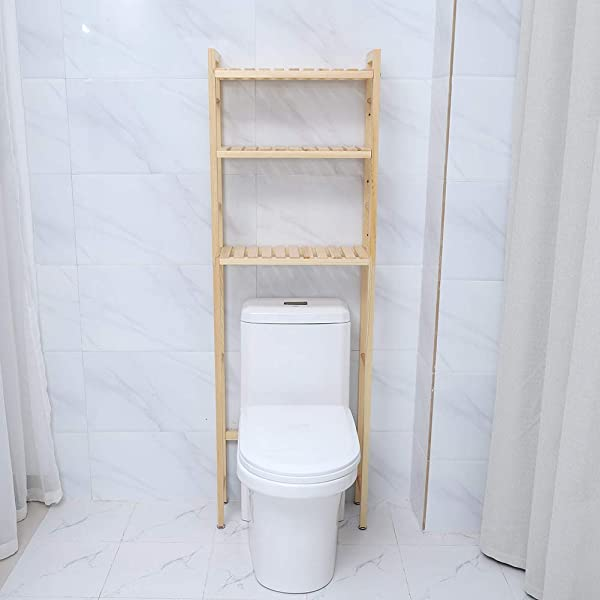 Toilet Shelf 3 Tier Wood Bathroom Over The Toilet Space Saver Storage Cabinet Shelf Organizer Stand