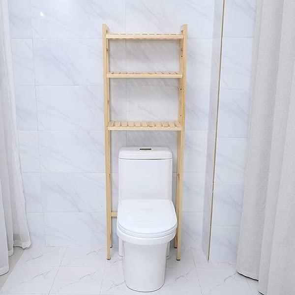 卫生间置物架 3 层木质浴室卫生间上方节省空间收纳柜置物架整理架