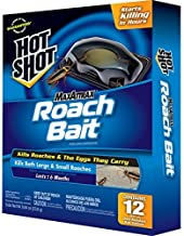 Hot Shot PDQ Maxatrraax Roach Bait, Kills Roaches and Their Eggs They Carry, 12 Count (Pack of 3)