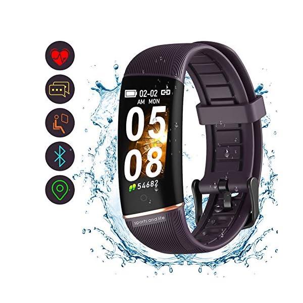 Byttron Fitness Tracker, Reloj Impermeable de Seguimiento de Actividad con Monitor de frecuencia cardíaca, Monitor de… 1