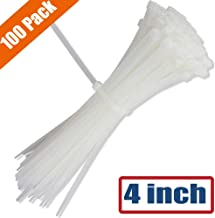 YIBIDINAY 4 Inch Cable Zip Ties Nylon Heavy Duty Self Locking Wire Ties