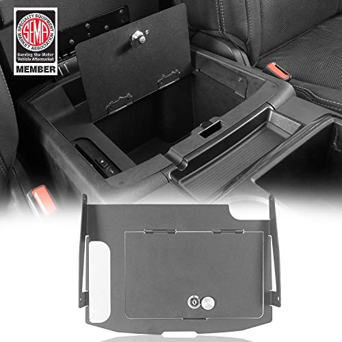 Security Console Insert for Dodge Ram 1500 Lock Box Lockable Console Safe Storages fit 2009-2018 Dodge Ram 1500 Pickup Trucks