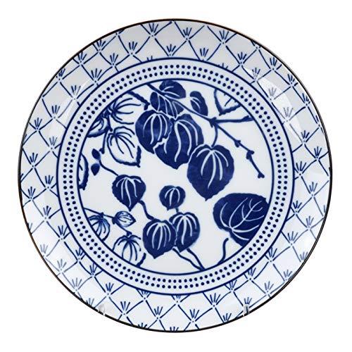 TOKYO design studio Blau/Weiß Teller Efeu – Flora Japonica – 16 x 2 cm