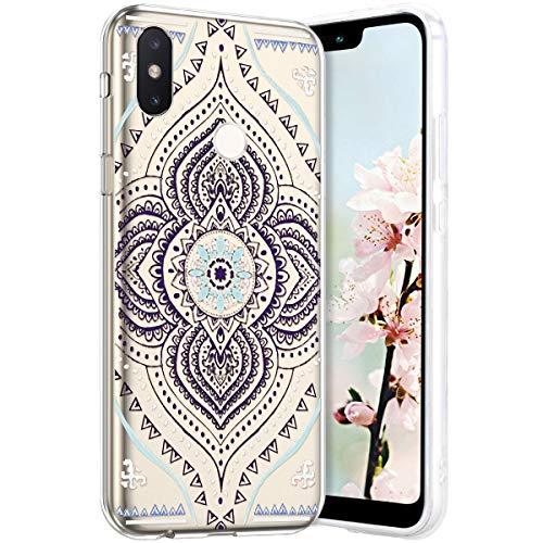 Robinsoni Compatible avec 8 Coque en Silicone Transparente Motif Mandala Fleur Jolie Housse de téléphone Gel TPU Souple Ultra Mince Crystal Clear Skin Étui Coque pour 8,11#