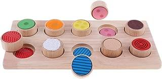 Blesiya Wooden Montessori Touch and Match Board Kids Sensory Skills Development Toy
