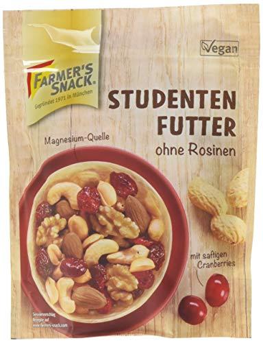 Farmer's Snack Studentenfutter ohne Rosinen, mit Cranberries,12er Pack (12x 125 g Beutel)