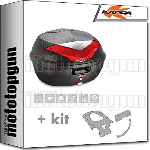 kappa maleta k355n 35 lt + portaequipaje monolock compatible con benelli trk 502 x 2020 20