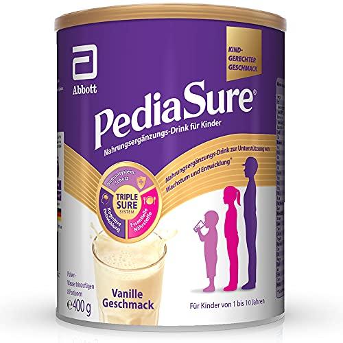 Pediasure Shake Vanille – Nahrungsergänzungsmittel für Kinder, Shake mit 27 Vitaminen und Mineralien, Protein und Omega 3 und 6 -ab 1 Jahr, 400 g