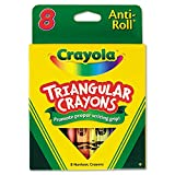 Crayola Anti-Roll Triangular Crayons, Assorted Colors 8 ea