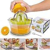 Yoyika 4 en 1 Exprimidor Zumo Manual, Exprimidor de Mano Portátil para Naranja Limón...