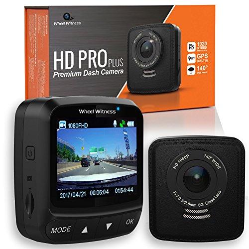 WheelWitness Dash Cam HD PRO Plus - w/WiFi - Premium Dash Camera for Cars - WiFi & GPS, Sony Exmor...