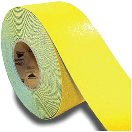 RPT-750 Yellow Reflective Pavement Marking Tape – Bast Certified Slip Resistant Premium Durability Outdoor Heavy-Duty Rubber Base (3 Inches x 36 Feet per Roll)