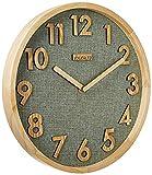 JIYUERLTD 12 Pulgadas Relojes de Pared 12 Pulgadas Silencioso sin tictac Reloj de Pared de Cuarzo, Reloj de Cocina Reloj de Madera para Casa Oficina Salón de Clases Colegio
