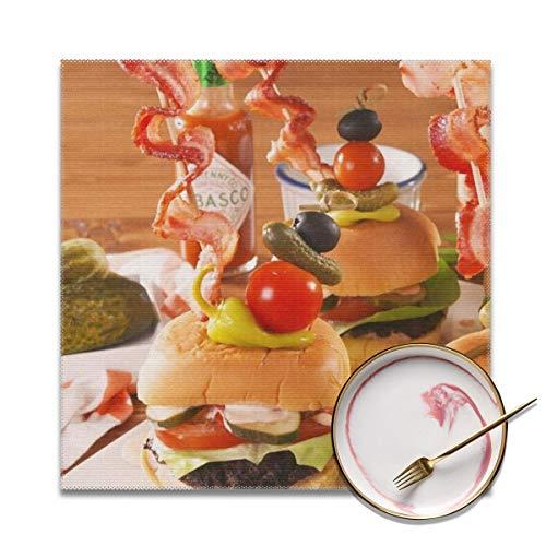 Delish-Bloody-Mary-Burger-Pinterest-Still002-1-1535144178 Platzdeckchen, schmutzabweisend, waschbar, PVC, gewebtes Vinyl, 4 Stück