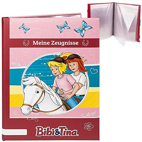 Zeugnismappe / Dokumentenmappe _ Motivwahl _ Bibi Blocksberg & Tina _ Meine Zeugnisse _ gebunden - Buch mit festen Seiten - A4 - A 4 - Zeugnisbuch - Softcover..