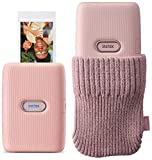 Fujifilm Instax Mini Link Smartphone Printer (Dusky Pink) with Cover