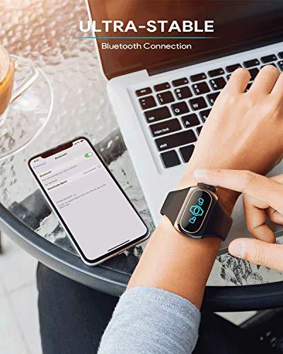 Aipower Auriculares Bluetooth Wearbuds 2 en 1 con Bluetooth 5, AptX, IPX6, modo mono, pulsómetro, podómetro, contador de calorías, etc. para deportes, hombres y mujeres (W20)