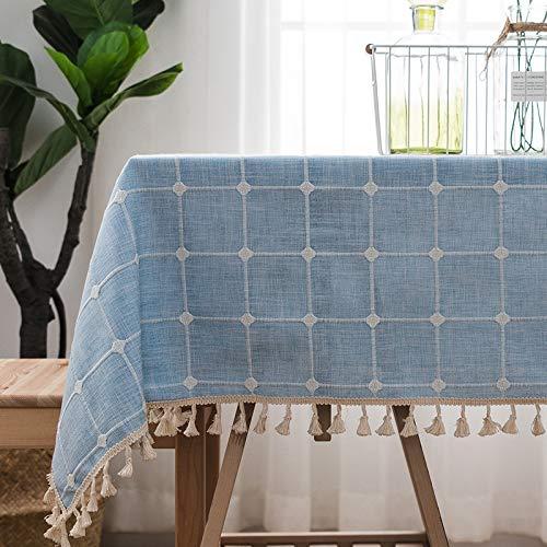 Estilo nórdico mesa de comedor moderno minimalista mantel de algodón lino pequeño mantel rectangular fresco mantel de mesa