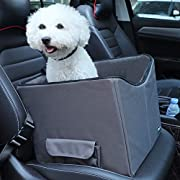 """Petsfit Dog Lookout Car Booster Seat with Summer and Winter Liner, 15"""" Lx16 Wx14 H"""