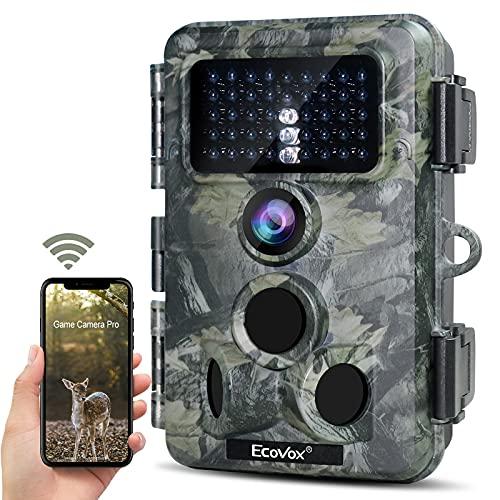 4K 30MP WiFi Trail Camera, Bluetooth APP Control 940nm No Glow Night...